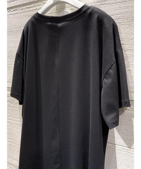 フェイスプリントビッグシルエットTシャツ【ブラック】