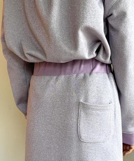 ◆NEW◆[GEY GRY]ラメスウェットサイドスリットスカート【パープル】