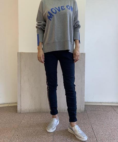 ◆NEW◆サイドラインスキニーパンツ【ネイビー】