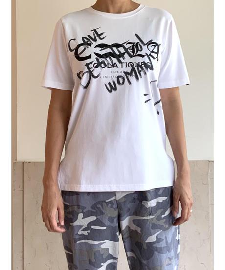 [COOLA]ペイントTシャツ【グレー】