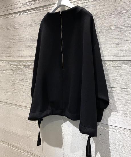 ◆NEW◆[Lallia Mu]フレアポンチプルオーバー【ブラック】