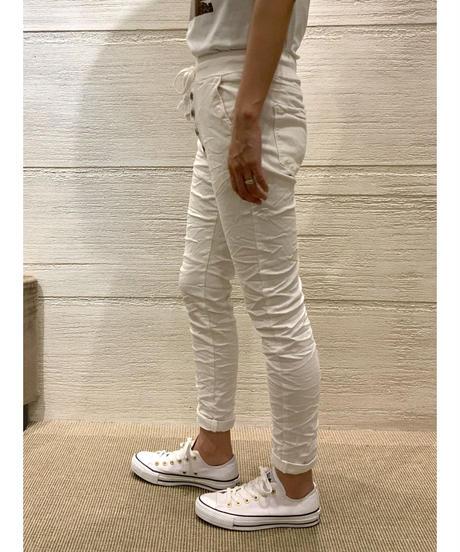 フロントボタンカラーパンツ【ホワイト】