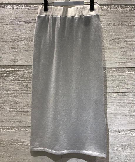 ◆NEW◆[GEY GRY]ラメスウェットサイドスリットスカート【グレー】