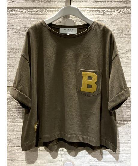 "[BEATING HEART]""B""Tシャツ【カーキ】"