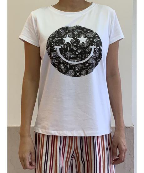 スマイルTシャツ【ブルー】