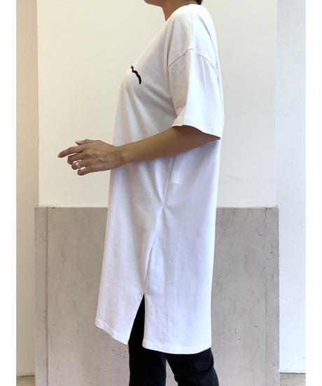 フェイスプリントビッグシルエットTシャツ【ホワイト】