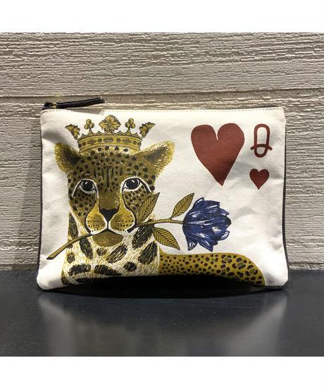 [INOUI EDITIONS]キャンバスミニポーチ【Leopard】