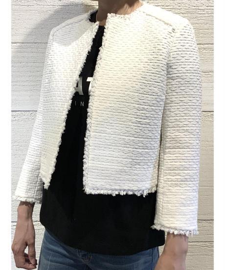 [BEATING HEART]ノーカラージャケット【ホワイト】