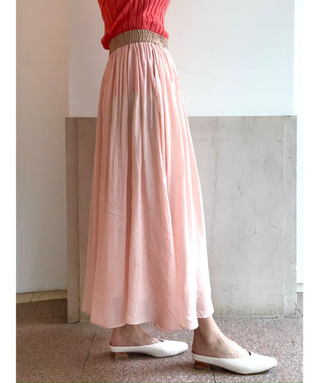 [BEATING HEART]ギャザーフレアスカート【ピンク】