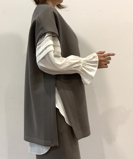 ◆NEW◆[Lallia Mu]プルオーバーポンチジレ【クレイグレー】