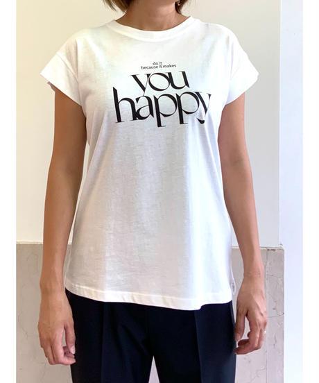 you happy Tシャツ【ブラック】