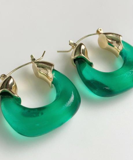 エニュ ピアス/Green Marble