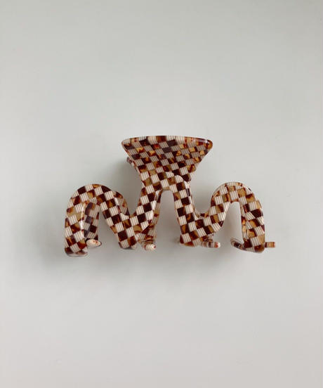 ヒュギ ヘアクリップ/Checker