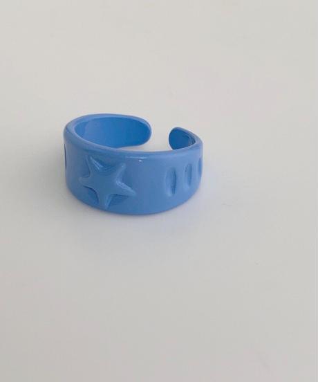 ポルキュースリング/Blue Star Motif