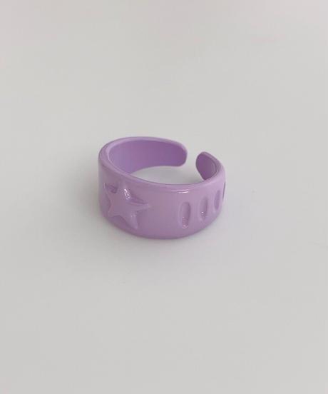 ポルキュースリング/Pale Purple Star Motif