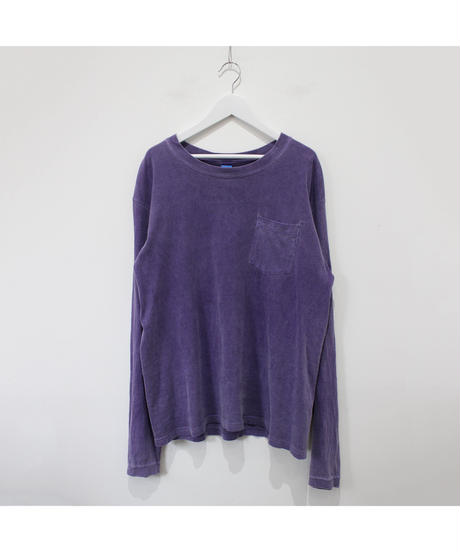 made in USA purple long tee