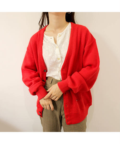 red one point cardigan