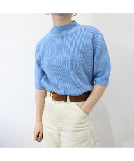 blue marble knit tops