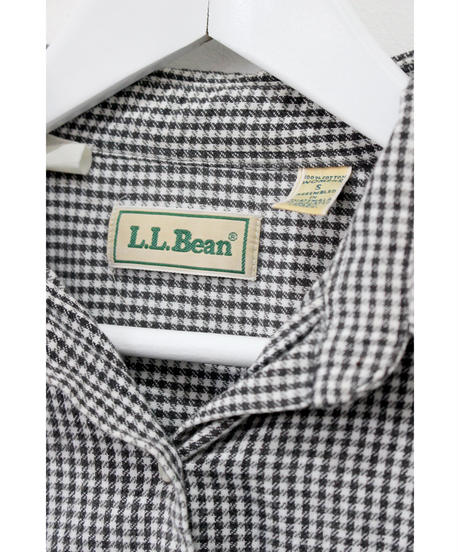 【llbean】cotton gingham check shirt