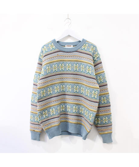 【Mcgregor】flower pattern sweater