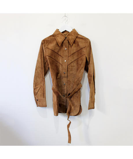 leather browsing shirt
