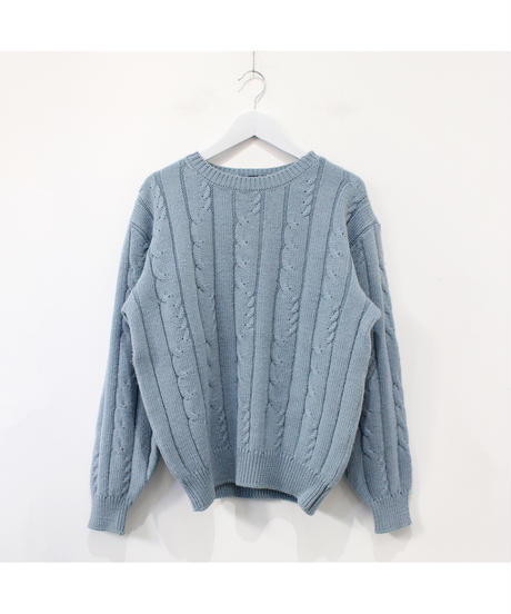 ice blue cable sweater