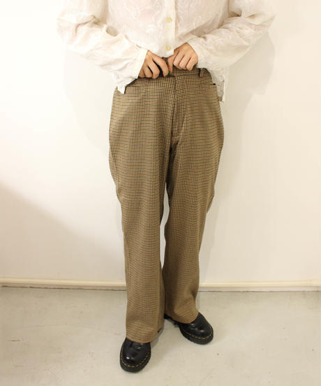 brown check slacks