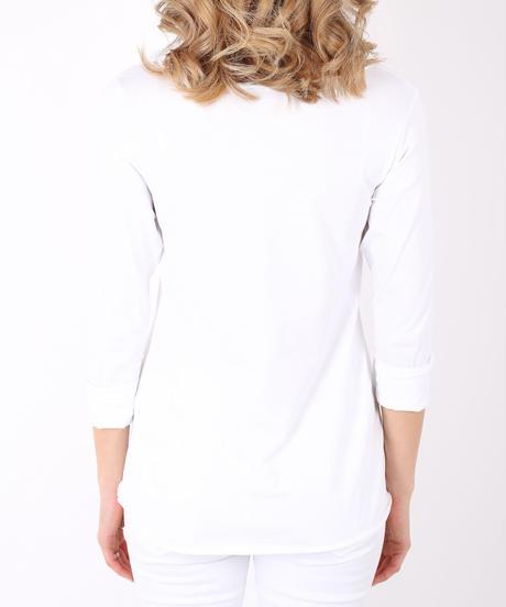 長袖シンプルコットンT/White