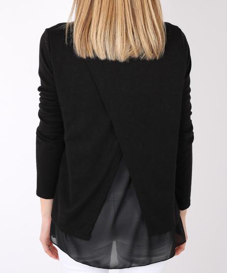 バックスリットセーター/Black