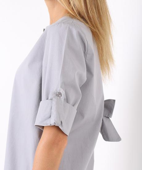 バックリボンシャツ / Light grey