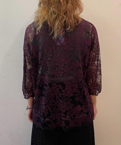 see-through shirt (purple)