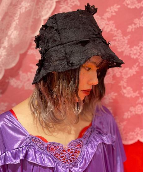 lace hat(Black)