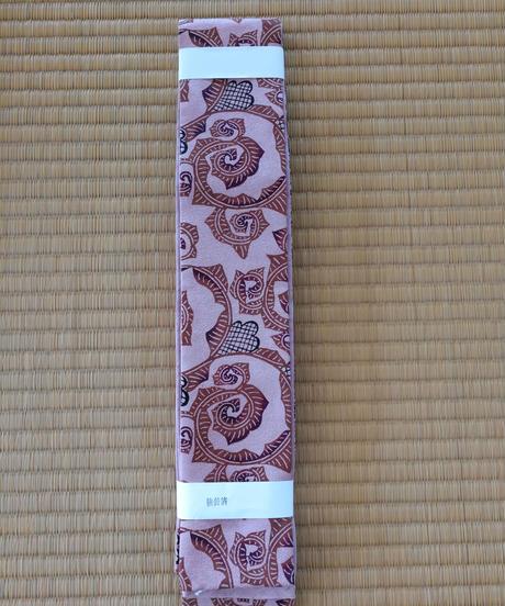 角帯(絹地) 唐草 マングローブ染