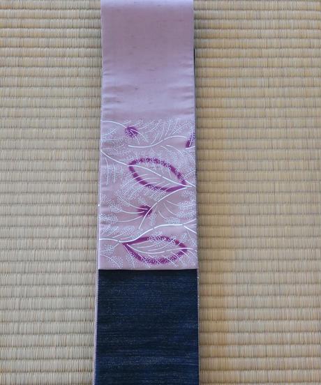 半巾帯(絹地) キビの穂 マングローブ染