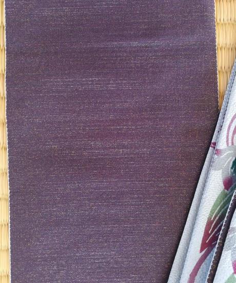 半巾帯 (絹地) アマゾンリリー