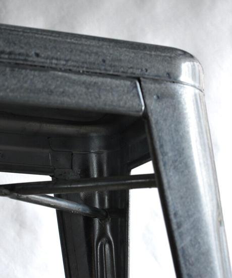 11-CH231016 Tolix Foot stool Galvanized