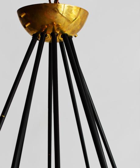 11-EG112021 Chandelier Stilnovo style Italian(メールオーダー対応品)