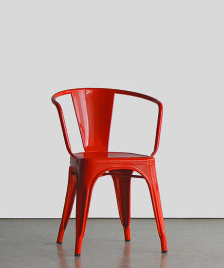 11-CH211032 Tolix Arm Chair Red