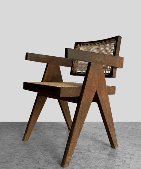 11-CH212031 Pierre Jeanneret floating back original vintage chair(メールオーダー対応品)