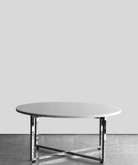 11-TA111017 Marble Top Coffee Table Chrome(メールオーダー対応品)