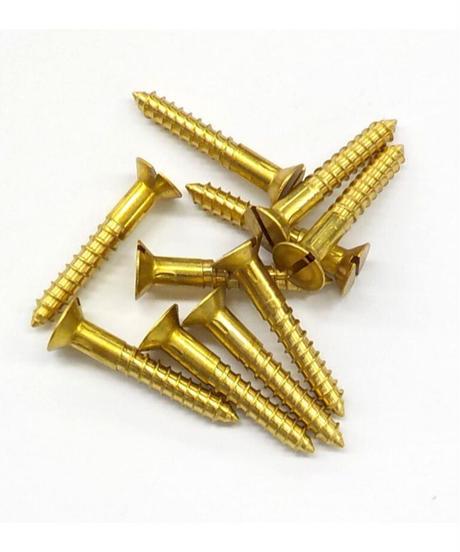 アクシス ブラスマイナスネジ3.8×25 50本セット HS2541 ゴールド 50入