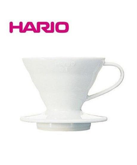 HARIO V60透過ドリッパー01セラミックW ホワイト VDC-01W