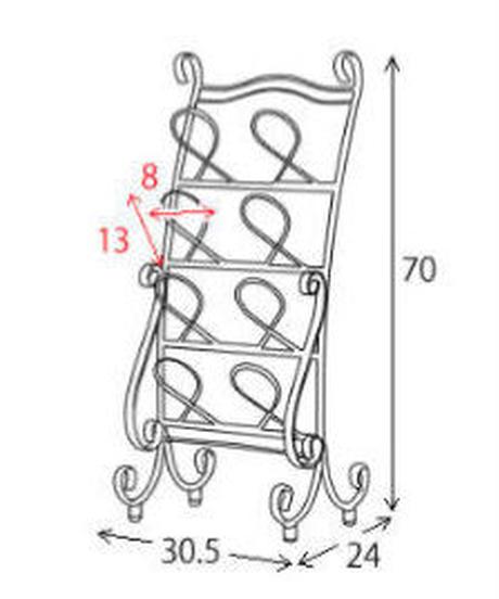 MIYATAKE 曲線をあしらった装飾の洗練されたデザイン! スリッパラック Celestia(セレスティア)SR-3070