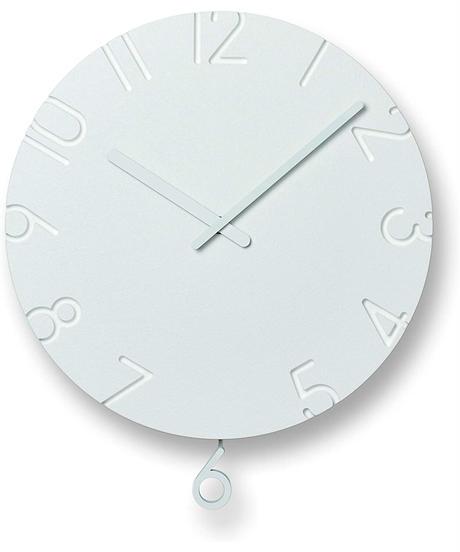 レムノス 掛け時計 カーヴド スウィング アナログ 振り子 白 CARVED SWING NTL15-11 Lemnos W30.5×H35.5×D5.8cm