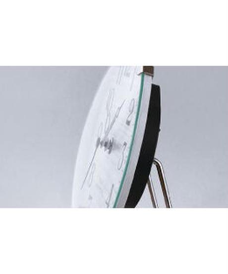 NOA テーブルクロック パドメラミニオールド 置き時計 ホワイト W-614 WH