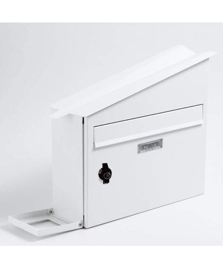 AXCIS(アクシス) ポスト 壁掛け 置き型 カギ付き ひねり錠 A4 ヨコ開き ハウスポスト