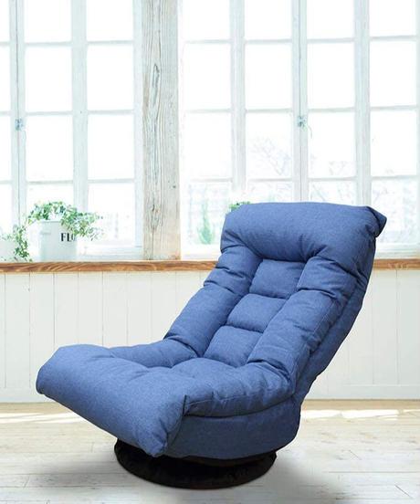 イナダ商事 座椅子 約幅58×奥行き80-108×高さ77-91cm 座面までの高さ36cm Angelfit(エンゼルフィット) オーシャン IAC-SFQ-558