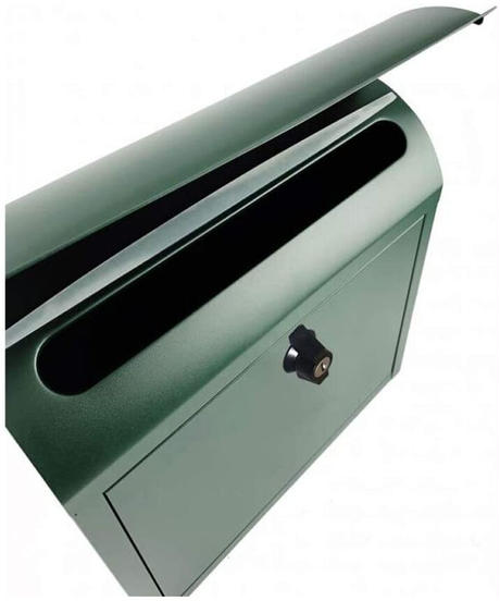 AXCIS(アクシス) ポスト 壁掛け 置き型 鍵付き A4 サイズ対応 タテ開き スチール ひねり錠 郵便ポスト ルーフィングポスト