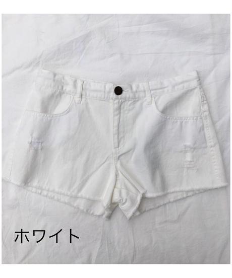 ダメージデニムショートパンツ(47500)