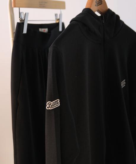 LOGO ZipUp Hooded Jersey [BLACK]
